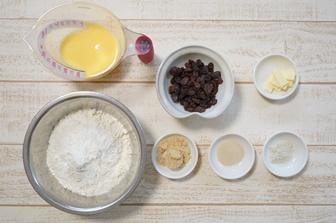 レーズンパンレシピ・材料