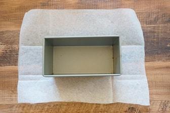 食パン型にクッキングシートを敷く方法