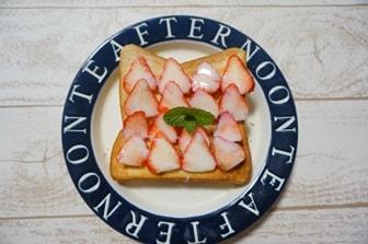 いちごトーストレシピ 画像