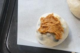 黒豆きなこパンレシピ きなこクリームを塗る